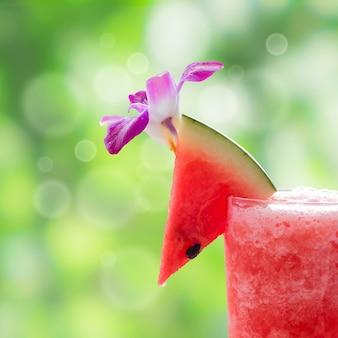 Glas wassermelonensaft