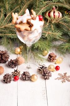 Glas weihnachtsplätzchen