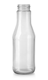 Glasflasche mit beschneidungspfad isoliert