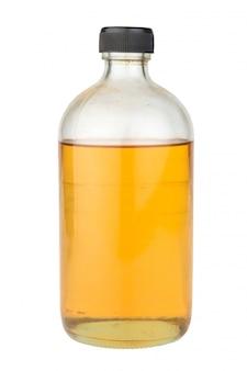 Glasflaschenparfüm lokalisiert auf weiß