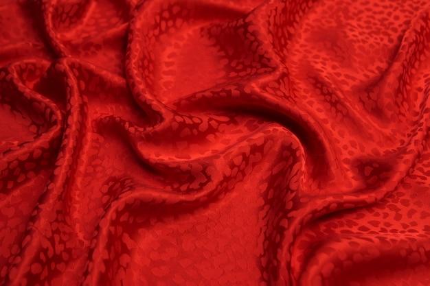 Glatte elegante rote seide