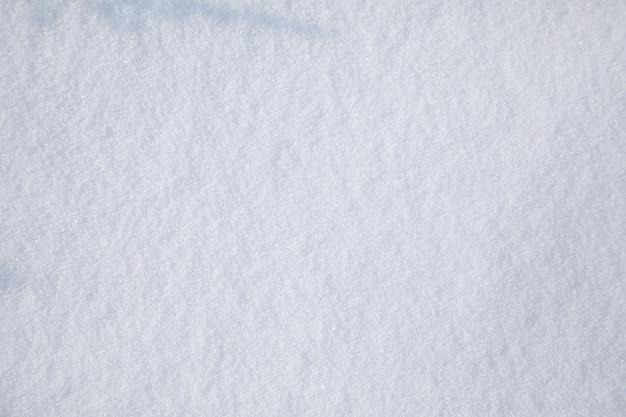 Glatte schneedeckenansicht von oben