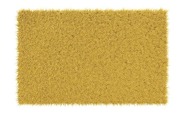 Glatter teppich aus rotem gras auf weißem hintergrund