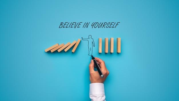 Glaube an dich selbst zeichen