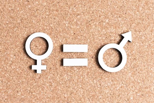 Gleichstellung von weiblichen und männlichen geschlechtssymbolen