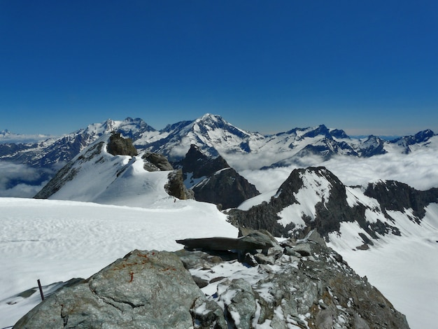 Gletscher in den alpen