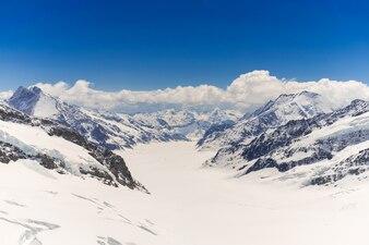 Gletscher oben auf jungfraujoch