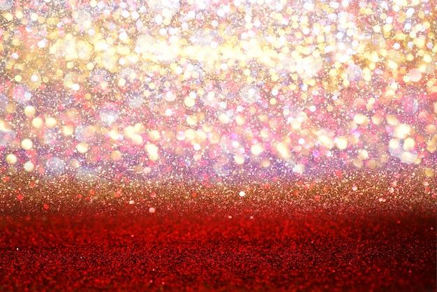 Glitter red vintage lights textur bokeh abstrakten hintergrund. defokussiert