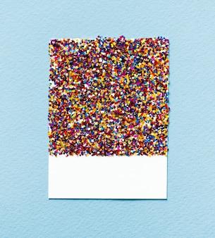 Glitzernde und glitzernde papierkarte