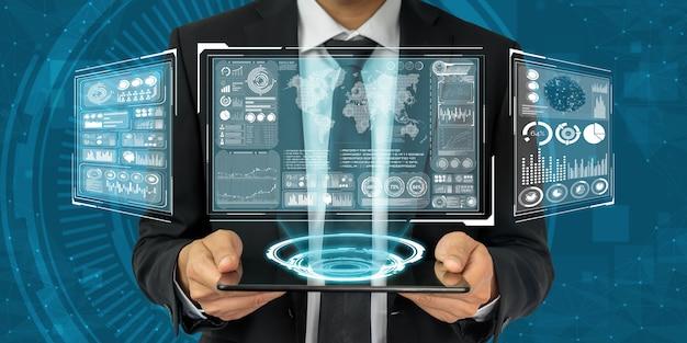 Globale finanzanalyse und big-data-forschungskonzept
