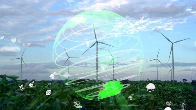 Globale nachhaltigkeitsentwicklung und esg-konzept
