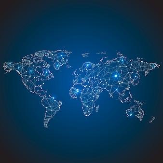 Globale netzwerkdesignillustration