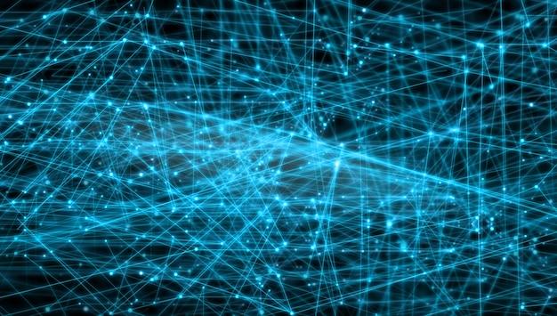 Globale netzwerke verbindungslinien konzept