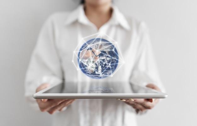 Globale netzwerkverbindung und big data-technologie