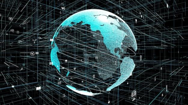 Globale online-internetverbindung
