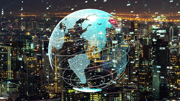 Globale verbindung und modernisierung des internetnetzes in smart city