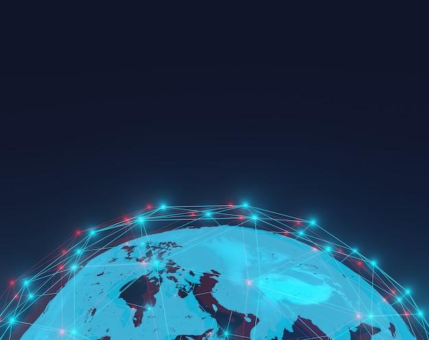 Globaler abstrakter technologiehintergrund, futuristisch