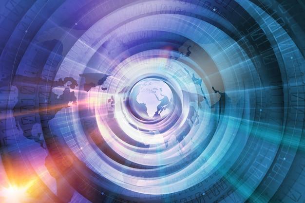 Globaler digitaler weltinternetanschluss-technologiehintergrund