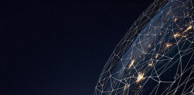 Globales netzwerk für den datenaustausch auf dem planeten erde.