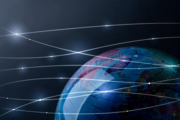 Globales netzwerk für technologie und zukunft