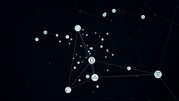 Globales netzwerkkonzept. iot (internet der dinge). ikt (information communication network)