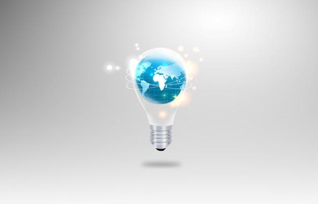 Globus in glühbirne