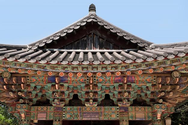 Glockenglocken-pagodendach buddhistischen tempels der korea-bulguksa unesco