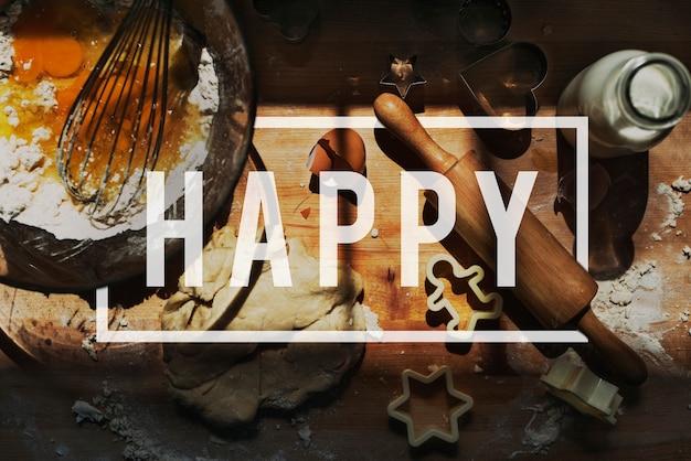 Glück-glückliches vergnügens-spaß-nettes konzept
