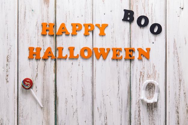 Glückliche halloween-beschriftung