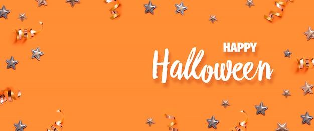 Glückliche halloween-grußkarte mit copyspace.