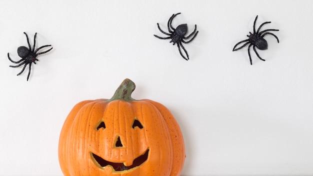 Glücklicher halloween-fahnenhintergrund