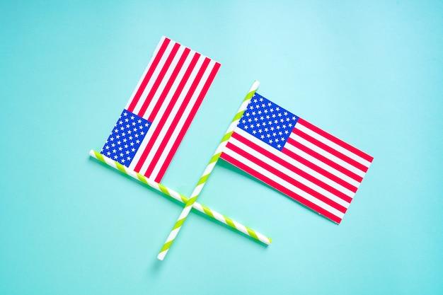 Glücklicher präsidententag, amerikanische us-flagge
