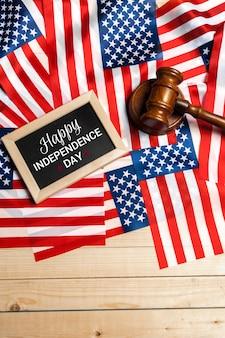 Glücklicher unabhängigkeitstag usa-flagge