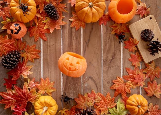 Glückliches halloween auf dem tisch