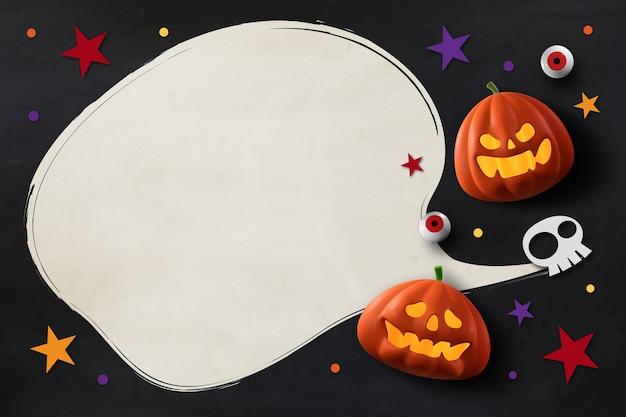Glückliches halloween-design mit kürbissen
