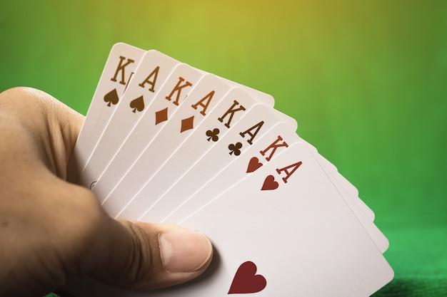 Glücksspielkarte.