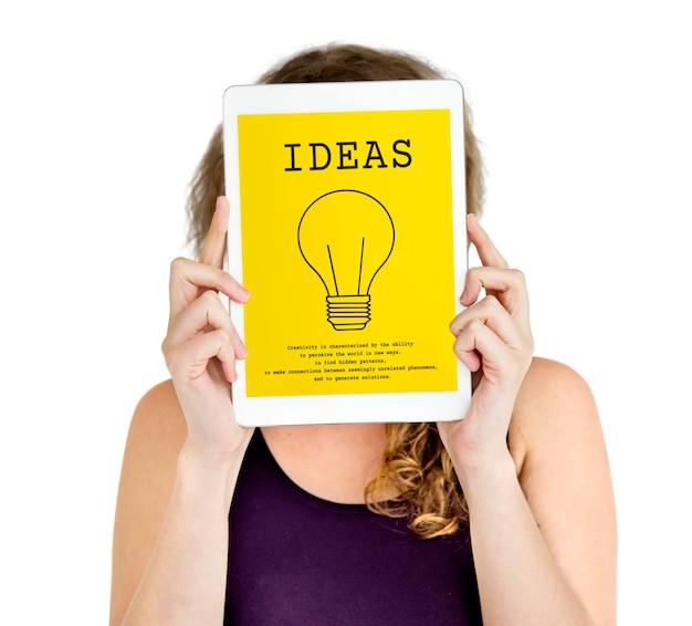 Glühbirne zeichen idee symbol wort
