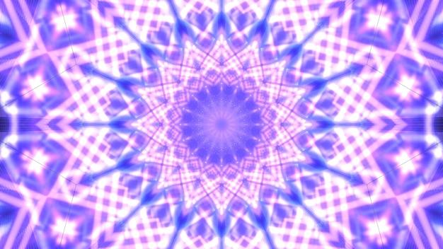 Glühende abstrakte 4k uhd coole neonstern blau und lila 3d illustration kunst hintergrund