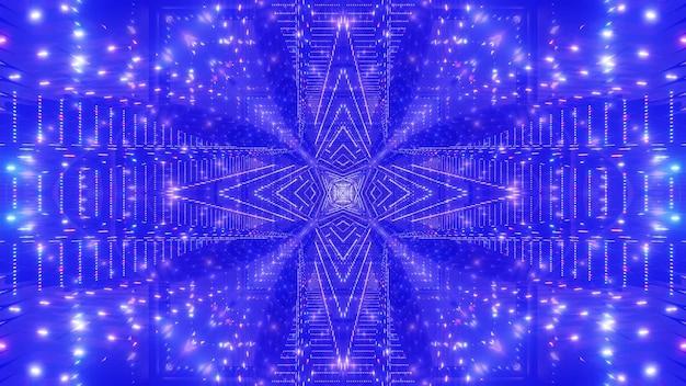 Glühende abstrakte 4k uhd raumgalaxiedesign 3d illustration