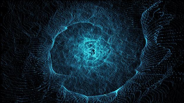 Glühender abstrakter hintergrund der partikel