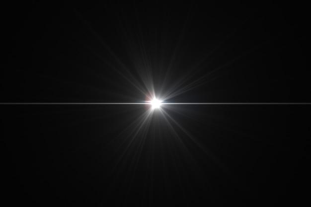 Glühender highlight-effekt auf der linse der linse