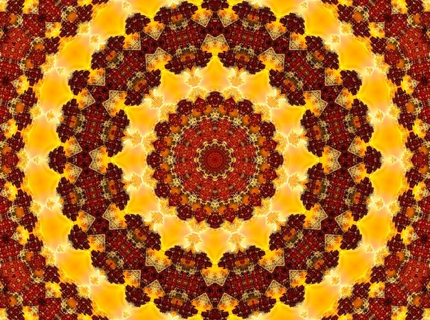 Glühendes feuriges orientalisches ornament, bild für buddhistisches mantra