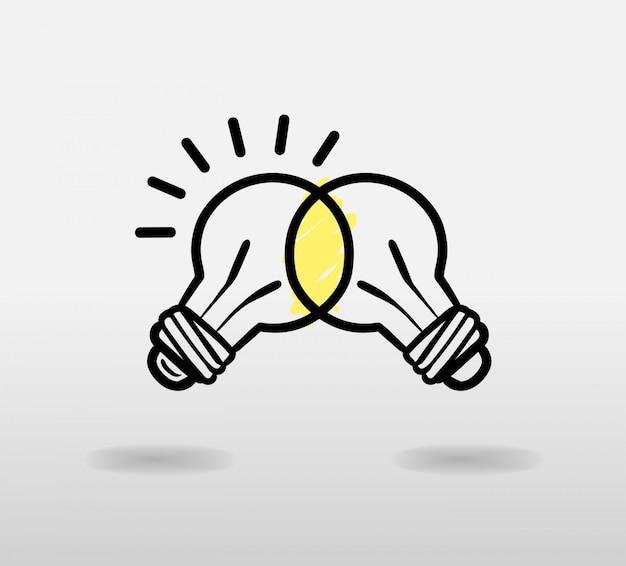 Glühlampen-vektor verbinden