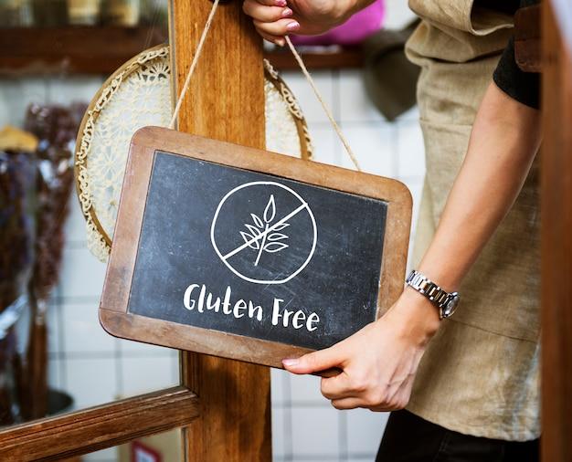 Glutenfreies gesundes lebensstilkonzept