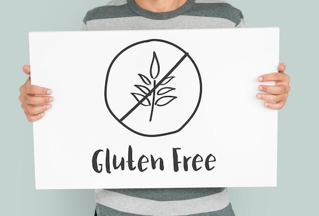 Glutenfreies konzept für einen gesunden lebensstil