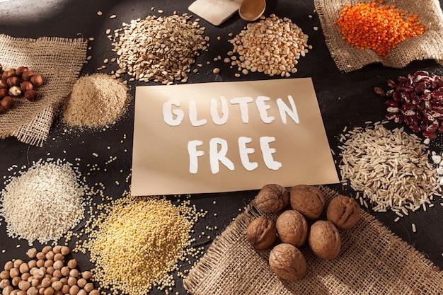 Glutenfreies mehl und getreide