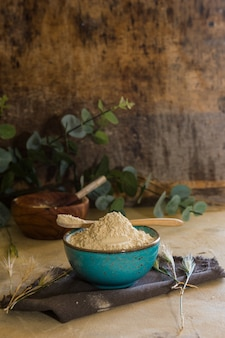 Glutenmehl mit hohem proteinindex.