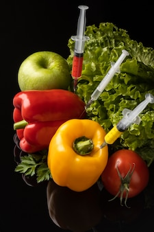 Gmo chemisch modifizierte anordnung von lebensmitteln