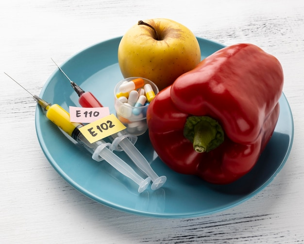 Gmo modifizierte paprika und apfel