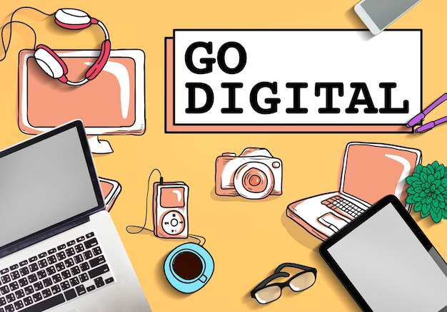 Go digital electronics technologiekonzept